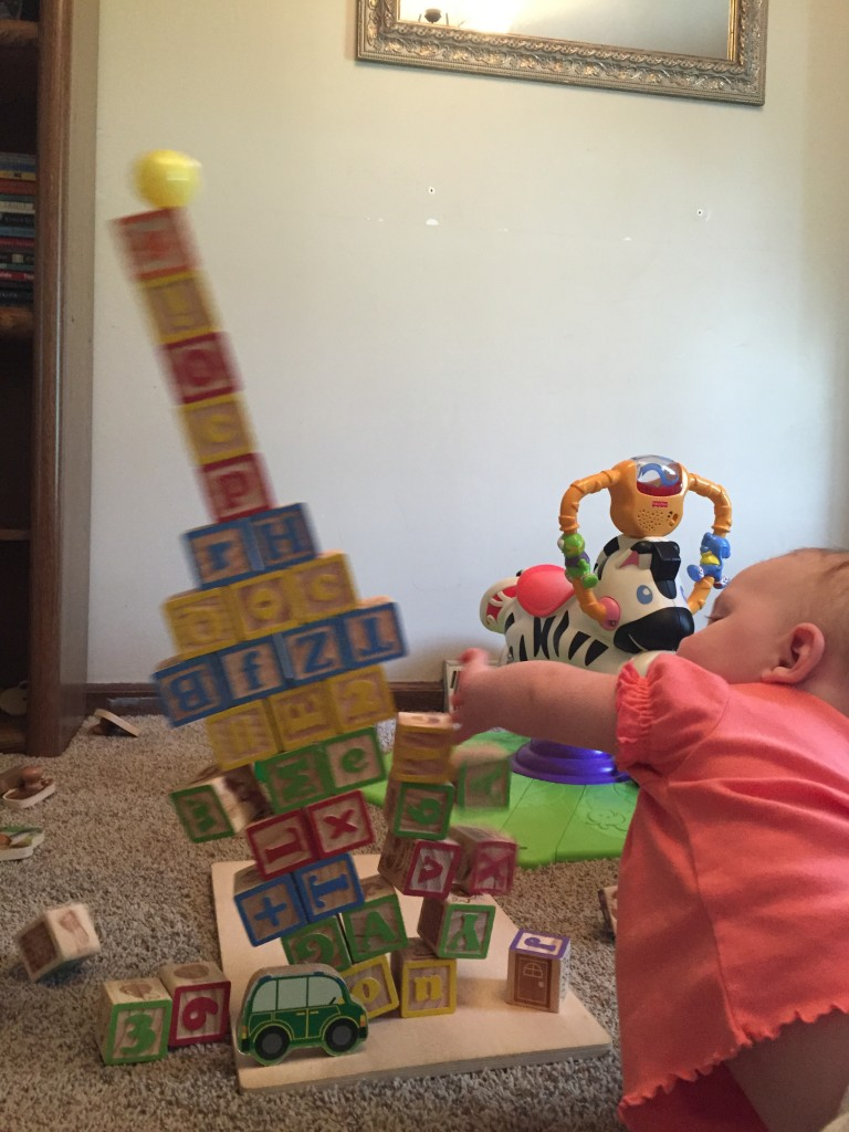I love playing blocks with Daddy!