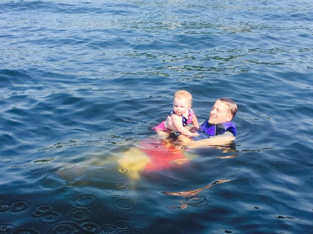 With Daddy in The Lake!