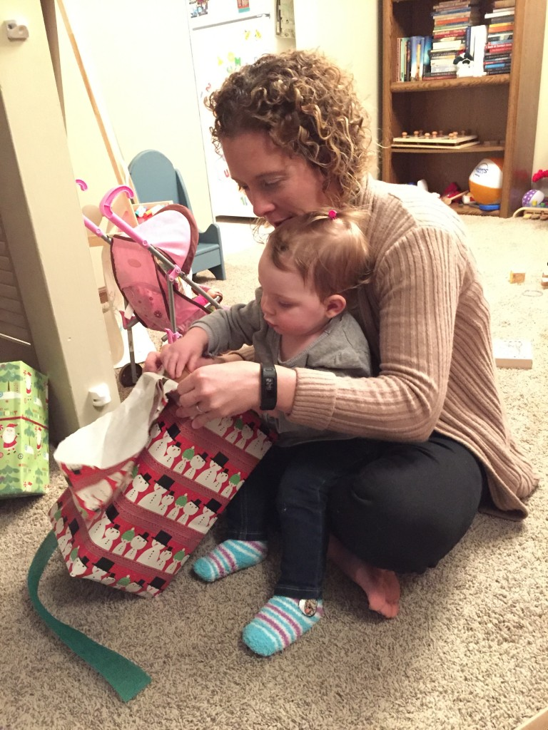 Opening presents with Mommy!