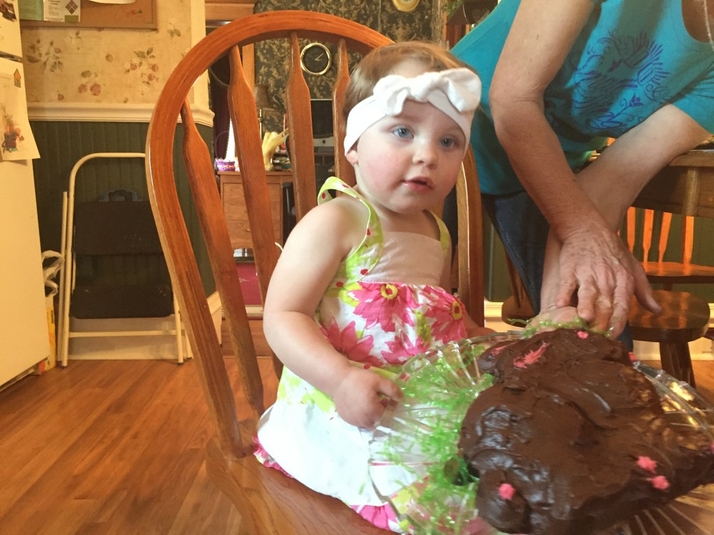 Great-Mimi made a Bunny Cake, a tradition carried forth in Mommy's family!