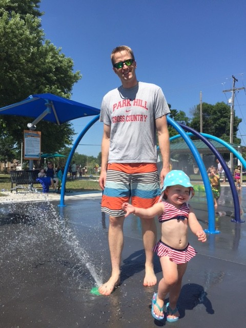 Daddy and I at Dagg Spray Park!