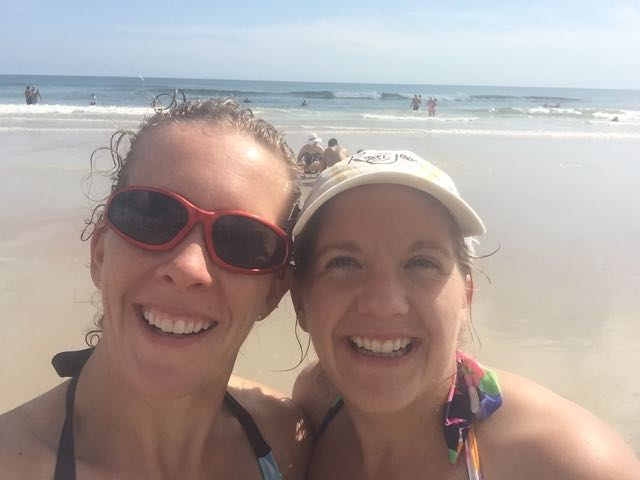 Mommy and Aunt Tricia on Daytona Beach!