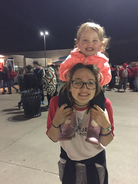 Aubry and I at a PHHS Ftbl game