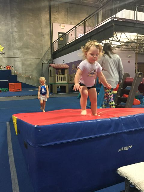 Getting more confident at gymnastics