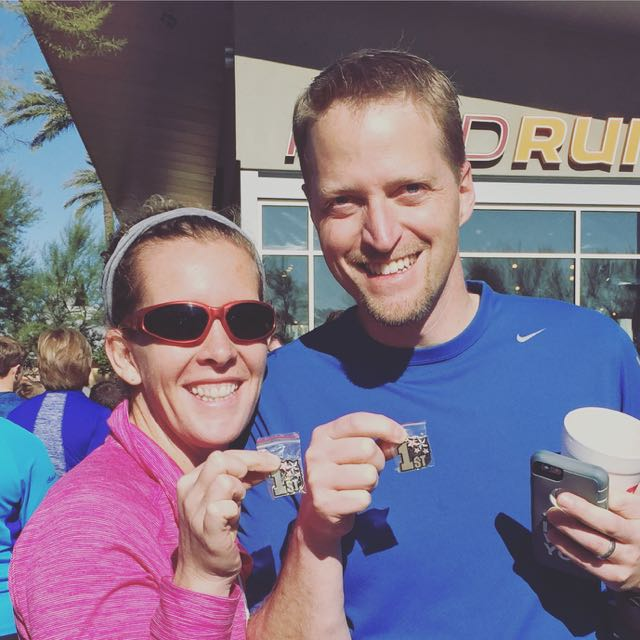 Mommy and Daddy ran a 5K while in AZ!